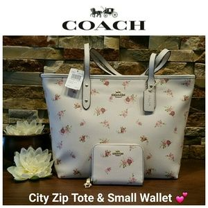 Only 1 LEFT!!!  NEW Coach City Zip Tote & Wallet